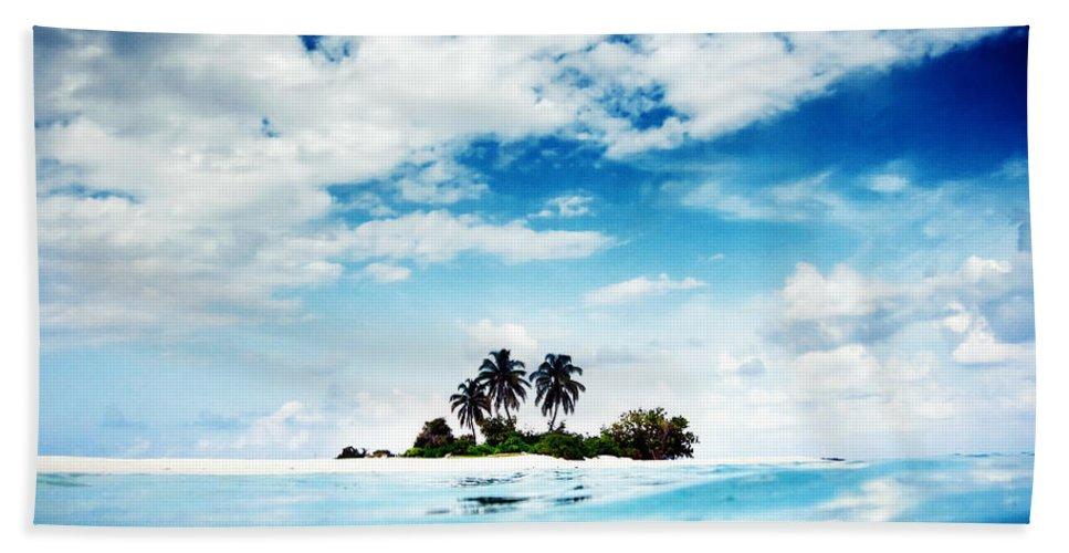 Island Bath Sheet featuring the digital art Island by Bert Mailer
