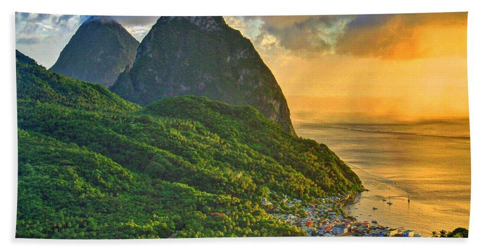 Beach Bath Sheet featuring the photograph Island Sunset by Scott Mahon