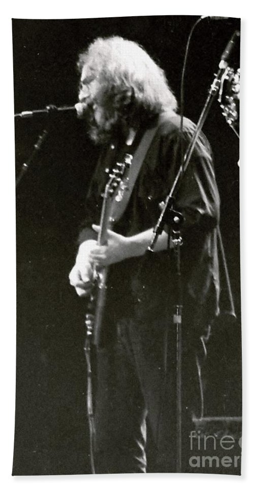 Jerry Bath Sheet featuring the photograph Grateful Dead - Jerry Garcia - Celebrities by Susan Carella