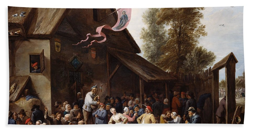 Animal Bath Sheet featuring the painting Kermis On St. George's Day by David Teniers the Younger