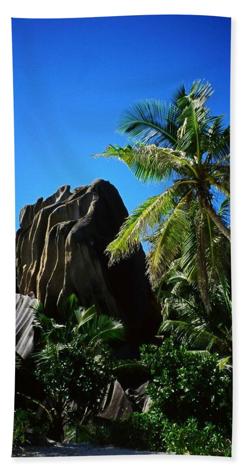 Indian Hand Towel featuring the photograph La Digue Island - Seychelles by Juergen Weiss