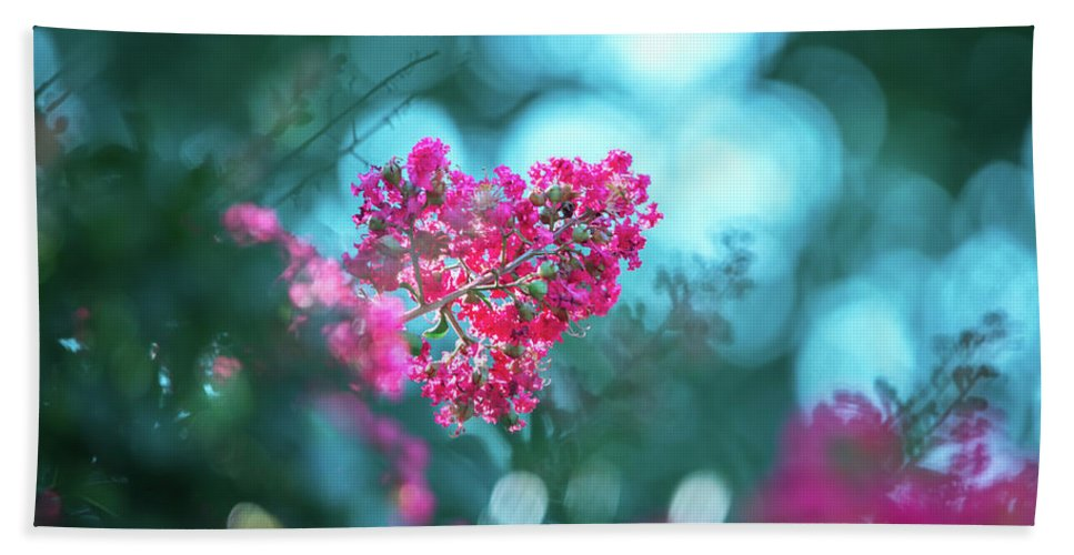 Crepe Hand Towel featuring the photograph Lagerstroemia Indica Crape Myrtle Crepe Myrtle by Alex Grichenko