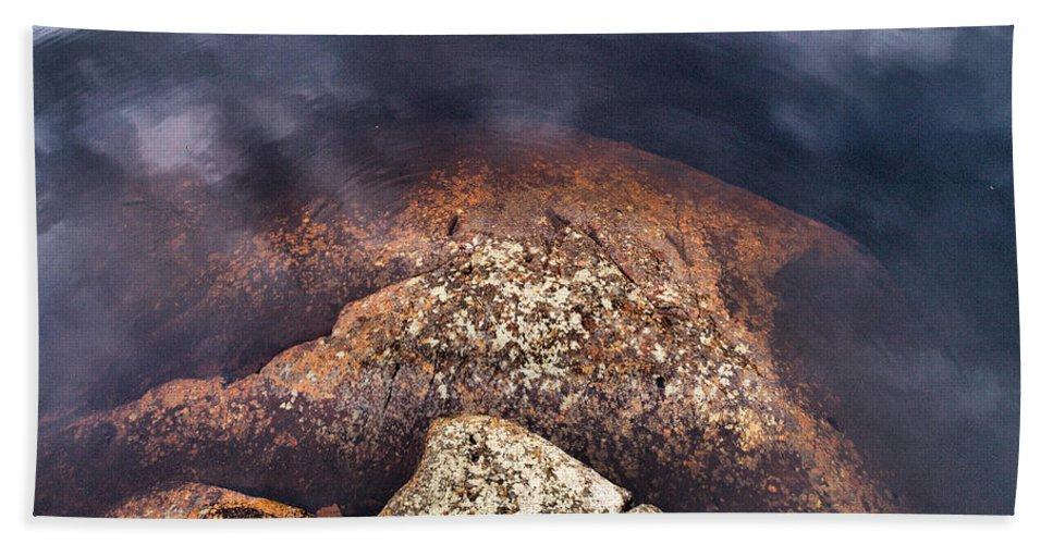 Lehtokukka Hand Towel featuring the photograph Lakescapes 5 by Jouko Lehto