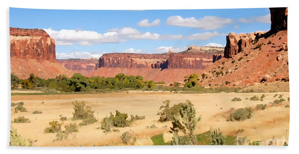 Canyon Lands Hand Towel featuring the photograph Land Of Canyons by David Lee Thompson