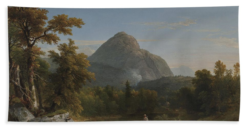 Landscape Hand Towel featuring the painting Landscape by Asher Brown