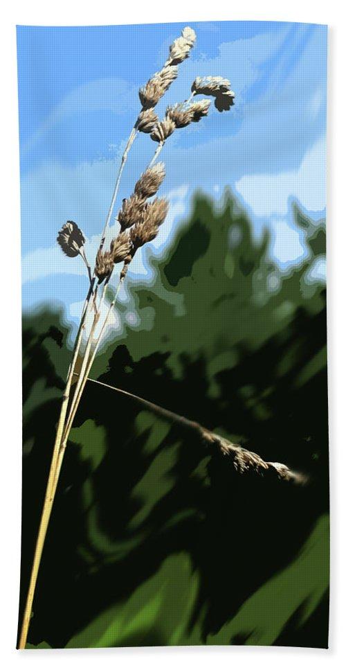 Straw Bath Sheet featuring the photograph Last Straw by Ian MacDonald