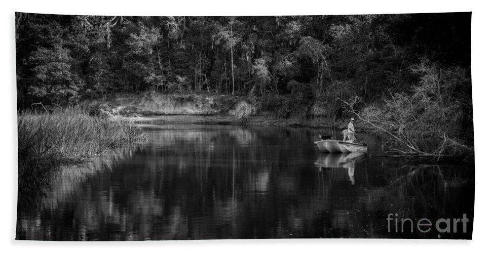 Lets Go Fishing Bath Sheet featuring the photograph Let's Go Fishing by Dale Powell