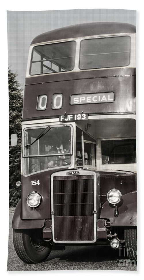 Leyland Double Decker Bus Bath Towel