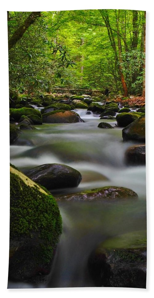 Water Hand Towel featuring the photograph Little Pigeon River by Dennis Nelson