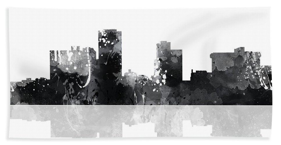 Little Rock Arkansas Skyline Bath Sheet featuring the digital art Little Rock Arkansas Skyline by Marlene Watson