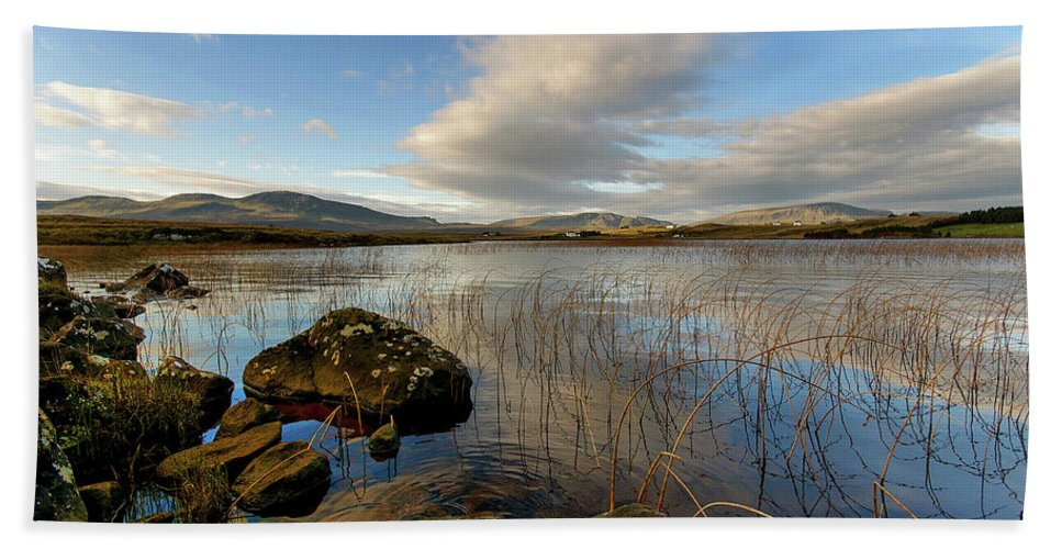 Isle Of Skye Canvas Bath Towel featuring the photograph Loch Mealt by Smart Aviation