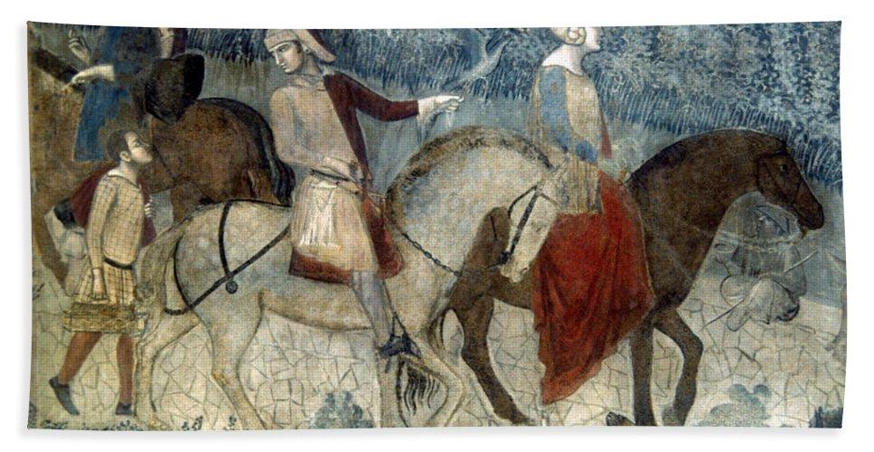 14th Century Bath Sheet featuring the photograph Lorenzetti: Good Govt by Granger