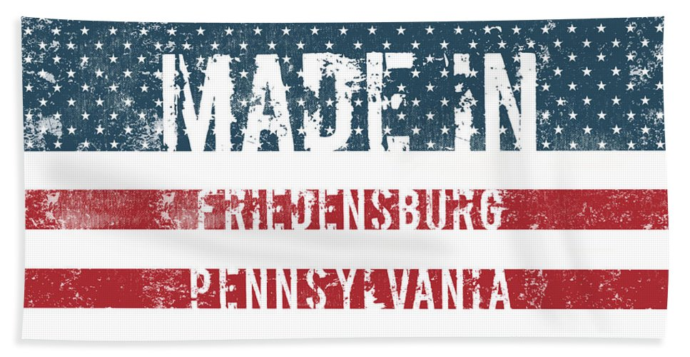 Friedensburg Bath Sheet featuring the digital art Made In Friedensburg, Pennsylvania by Tinto Designs