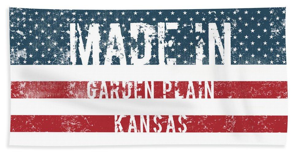 Garden Plain Bath Sheet featuring the digital art Made In Garden Plain, Kansas by GoSeeOnline