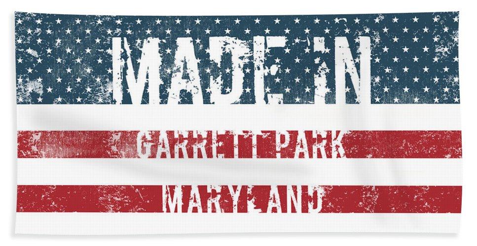 Garrett Park Bath Sheet featuring the digital art Made In Garrett Park, Maryland by GoSeeOnline