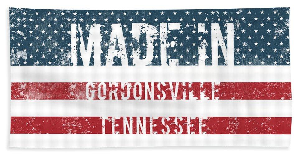 Gordonsville Bath Sheet featuring the digital art Made In Gordonsville, Tennessee by GoSeeOnline