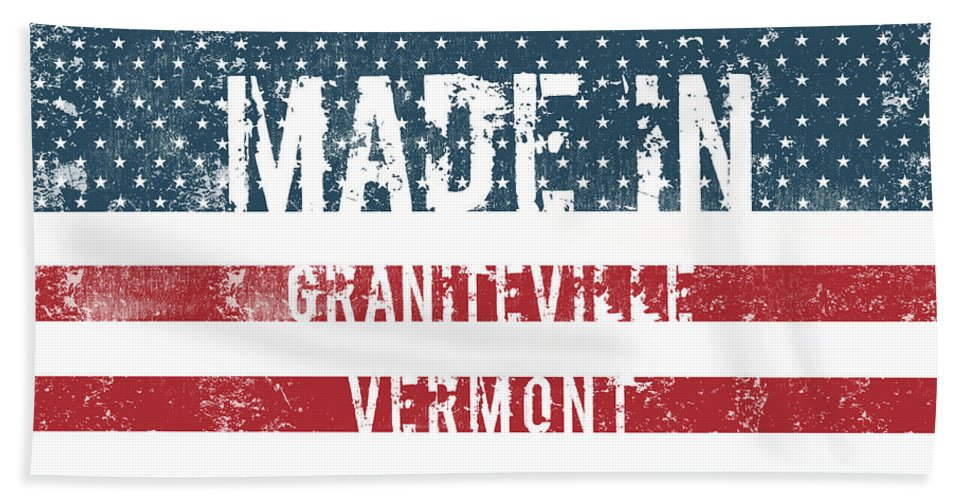Graniteville Bath Sheet featuring the digital art Made In Graniteville, Vermont by GoSeeOnline