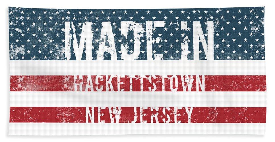 Hackettstown Bath Sheet featuring the digital art Made In Hackettstown, New Jersey by GoSeeOnline