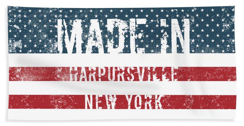 Harpursville Bath Sheet featuring the digital art Made In Harpursville, New York by GoSeeOnline