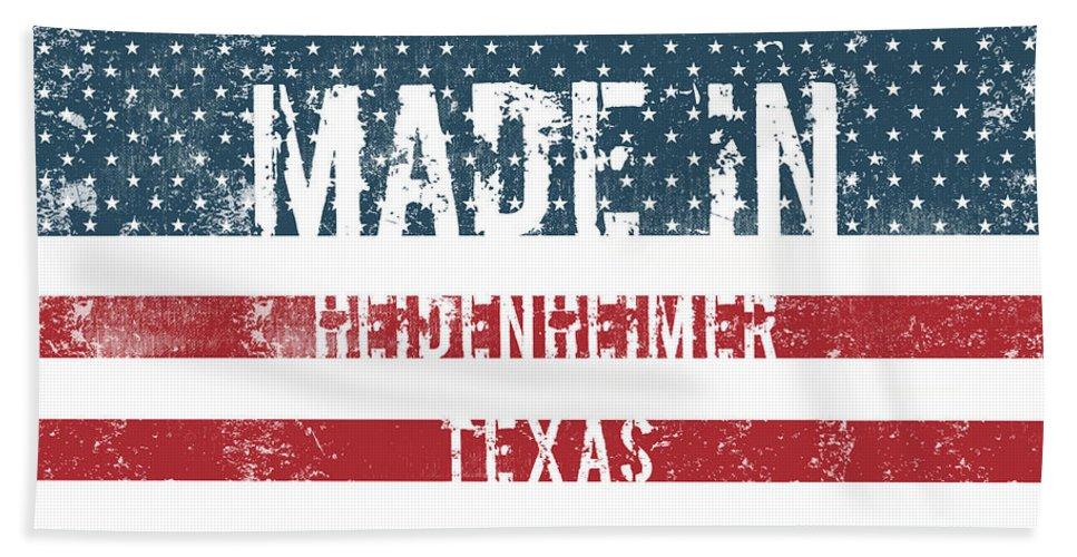 Heidenheimer Bath Sheet featuring the digital art Made In Heidenheimer, Texas by GoSeeOnline