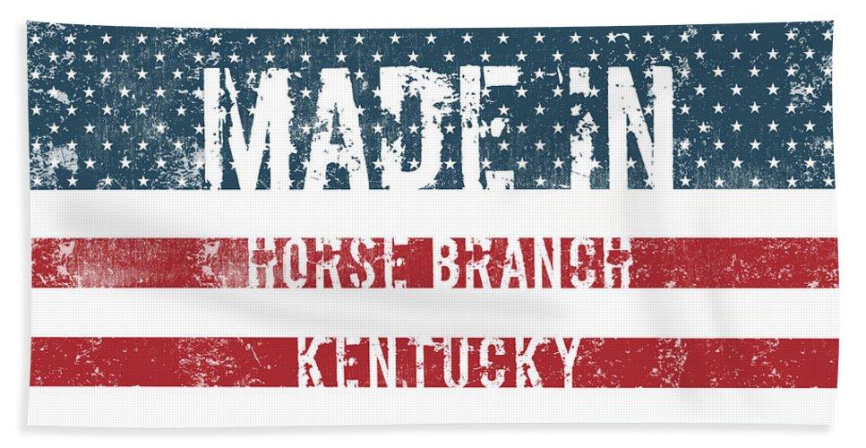 Horse Branch Bath Sheet featuring the digital art Made In Horse Branch, Kentucky by GoSeeOnline
