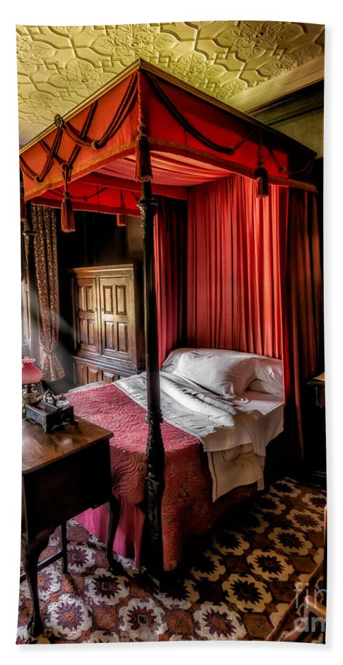 British Hand Towel featuring the photograph Mansion Bedroom by Adrian Evans