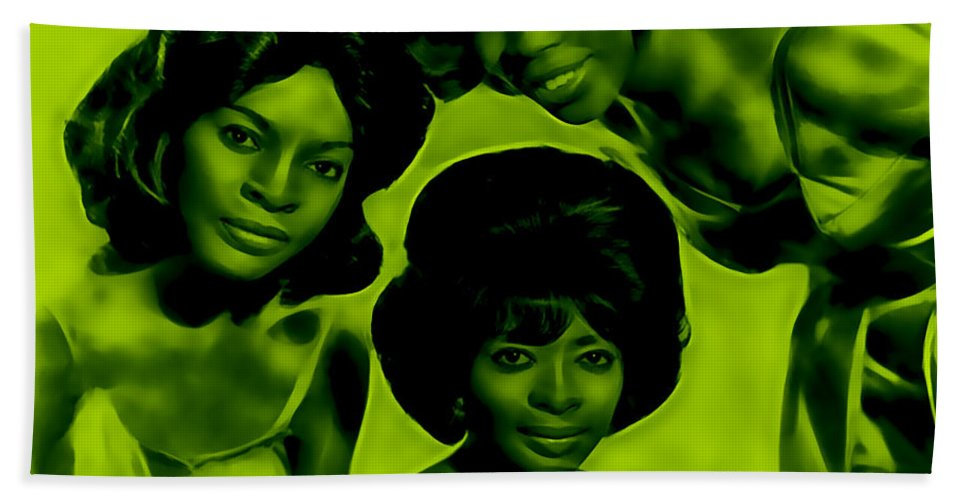 Martha And The Vandellas (known From 1967 To 1972 As Martha Reeves And The Vandellas) Were An American Vocal Group Who Found Fame In The 1960s With A String Of Hit Singles On Motown's Gordy Label. Bath Sheet featuring the mixed media Martha And The Vandellas Collection by Marvin Blaine