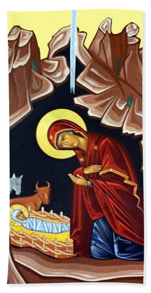 Nativity Bath Sheet featuring the photograph Mary by Munir Alawi