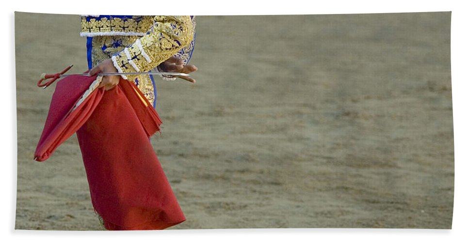 Spain Hand Towel featuring the photograph Matador Sebastian Castella II by Rafa Rivas