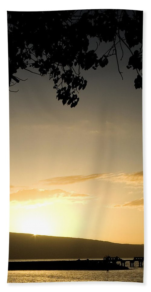 Maui Gold Bath Sheet featuring the photograph Maui Gold by Chris Brannen