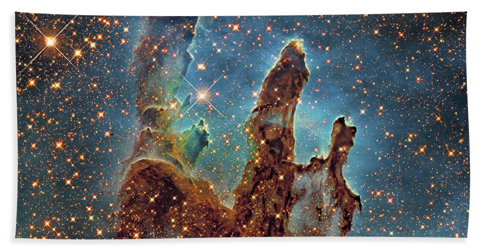 Eagle Nebula Bath Sheet featuring the photograph Messier 16, The Eagle Nebula In Serpens by Robert Gendler