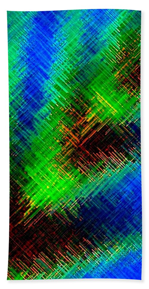 Micro Linear Bath Towel featuring the digital art Micro Linear 7 by Will Borden