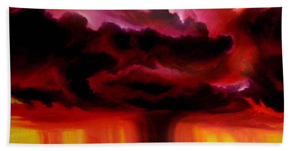 Skyscape Bath Towel featuring the painting Microburst by James Christopher Hill
