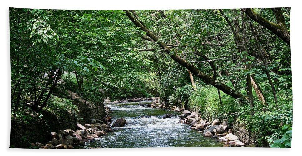 Outdoors Bath Sheet featuring the photograph Minnehaha Creek by Susan Herber