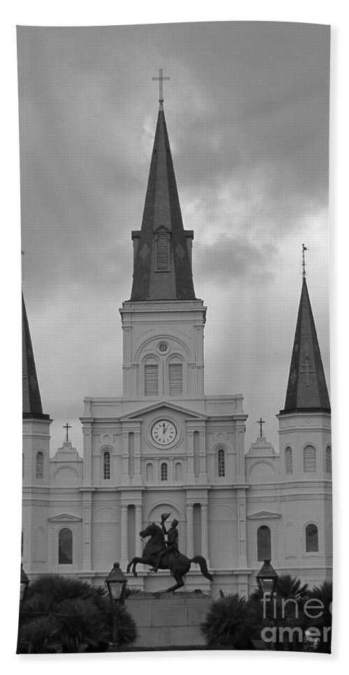 French Quarter Hand Towel featuring the photograph Model Church by Michelle Powell
