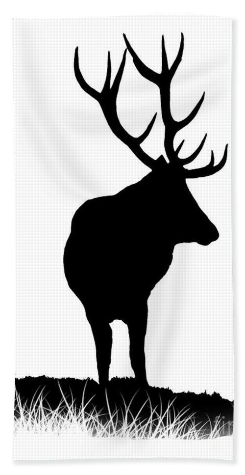Stag Hand Towel featuring the photograph Monarch Of The Park by Linsey Williams