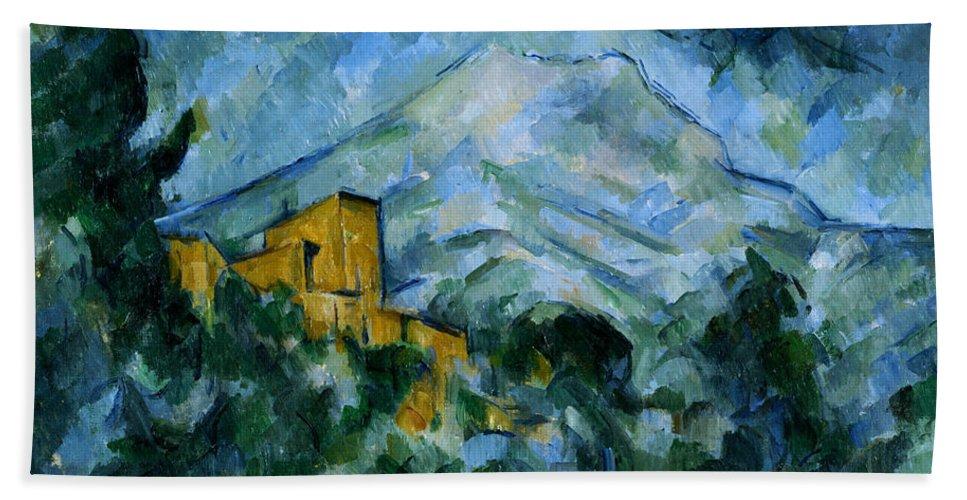 Castle Hand Towel featuring the painting Mont Sainte-victoire And Chateau Noir by Paul Cezanne
