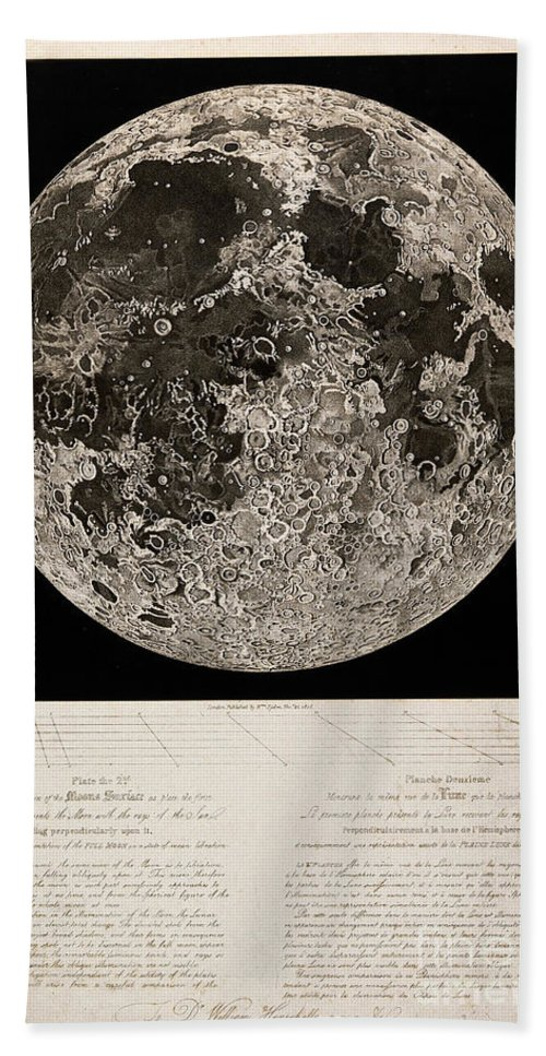 Historic Hand Towel featuring the photograph Moon Surface By John Russell by Wellcome Images