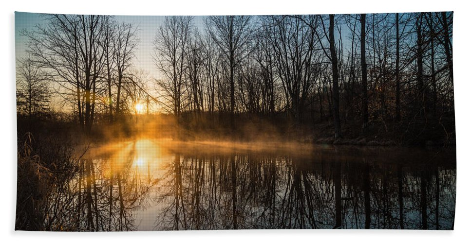 New Jersey Hand Towel featuring the photograph Morning Burn by Kristopher Schoenleber