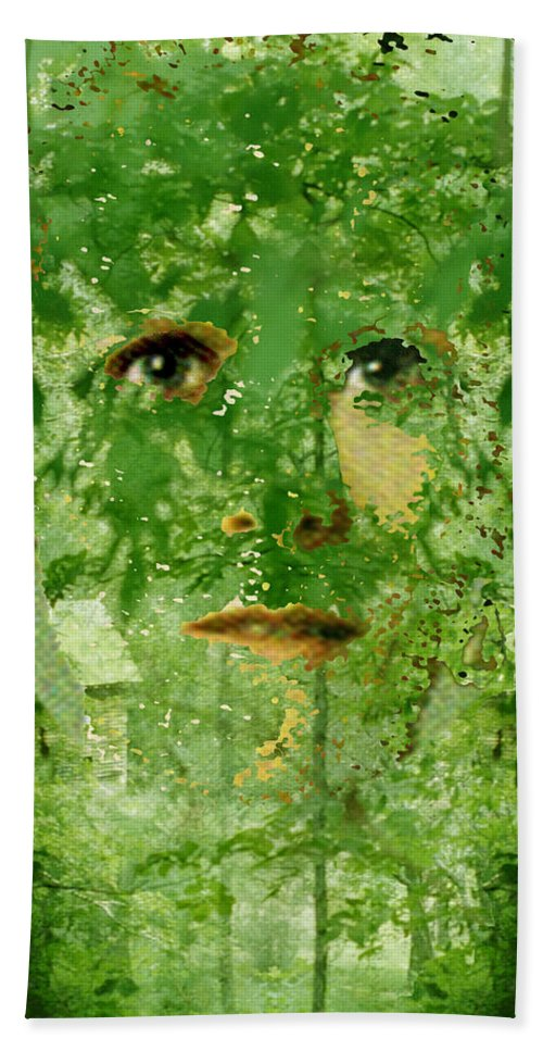 Lady Hand Towel featuring the digital art Mother Nature by Seth Weaver