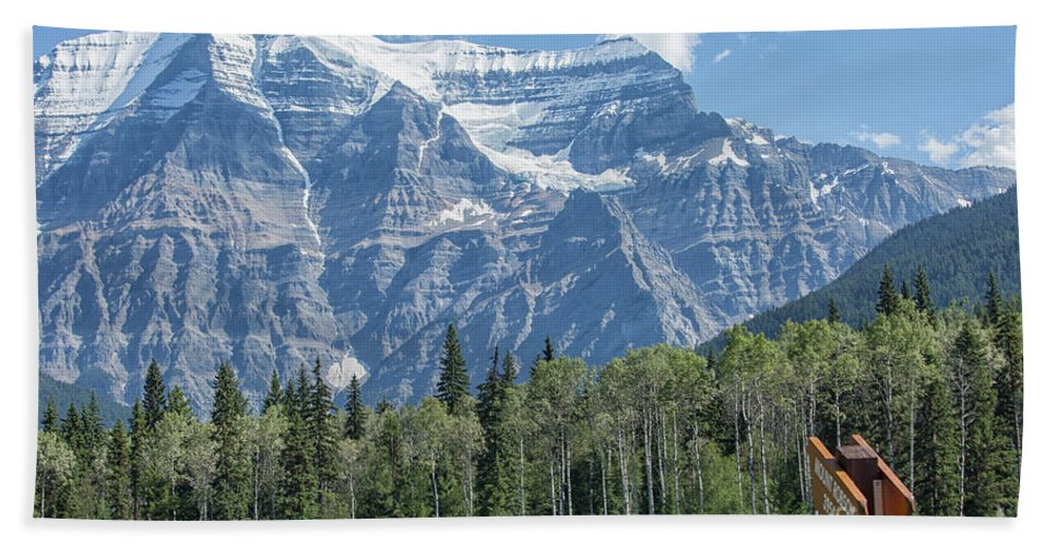 Robson Bath Sheet featuring the photograph Mount Robson by Patricia Hofmeester