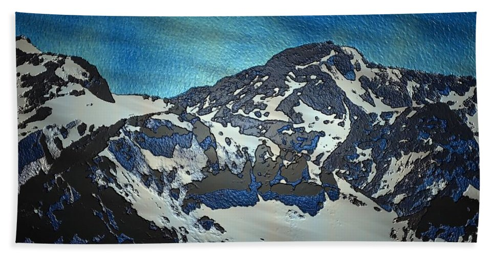 Mountain Hand Towel featuring the painting Mountain by Mark Taylor