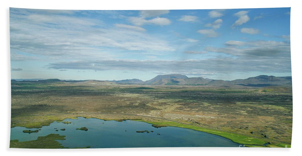 Myvatn Hand Towel featuring the photograph Beautiful Myvatn, Iceland by Patricia Hofmeester
