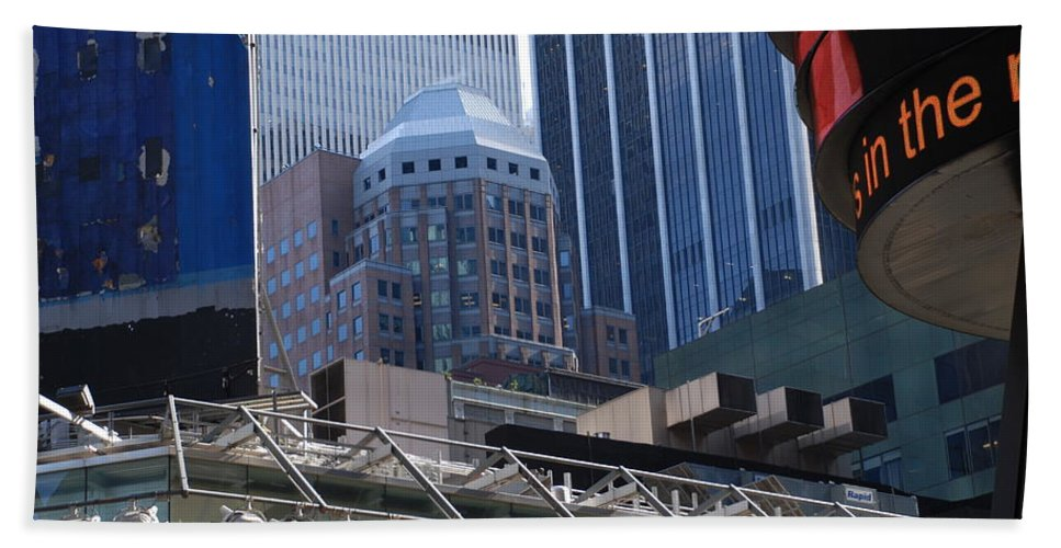 Architecture Hand Towel featuring the photograph N Y C Architecture by Rob Hans