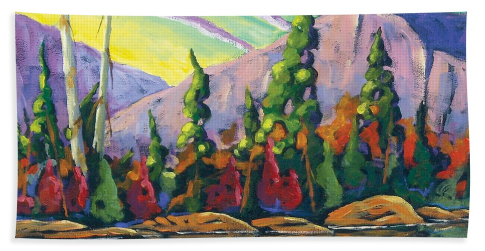 Art Bath Towel featuring the painting Nature Expression by Richard T Pranke
