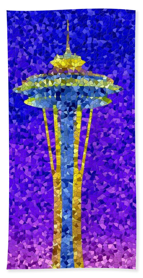 Seattle Bath Towel featuring the photograph Needle In Mosaic by Tim Allen