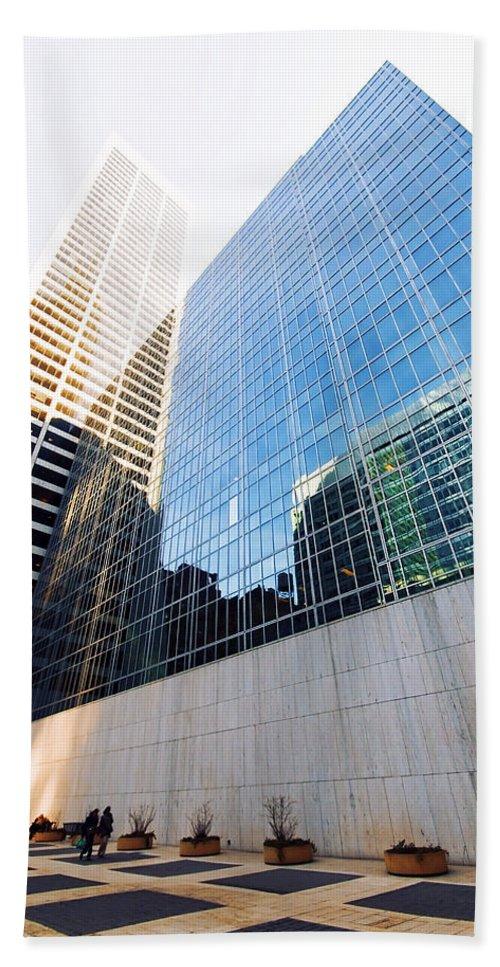 America Bath Sheet featuring the photograph New York Street by Svetlana Sewell