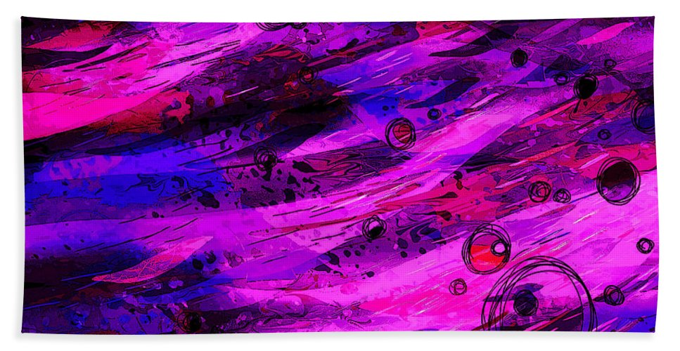 Abstract Bath Sheet featuring the digital art Not Of This World by Rachel Christine Nowicki