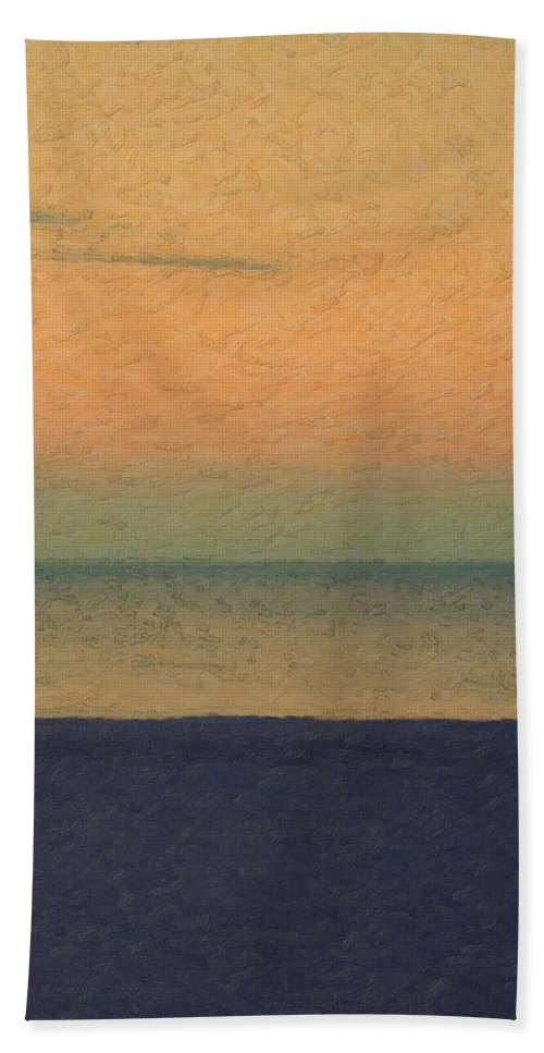 �not Quite Rothko� Collection By Serge Averbukh Hand Towel featuring the photograph Not quite Rothko - Breezy Twilight by Serge Averbukh