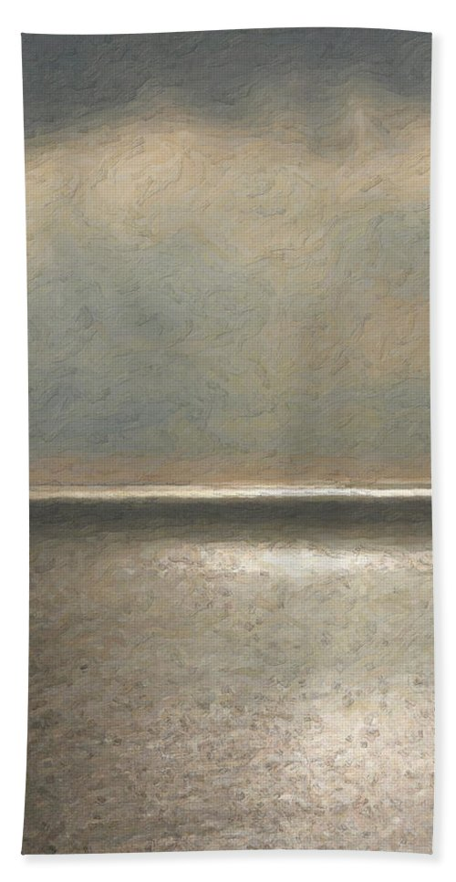 �not Quite Rothko� Collection By Serge Averbukh Bath Towel featuring the photograph Not quite Rothko - Twilight Silver by Serge Averbukh